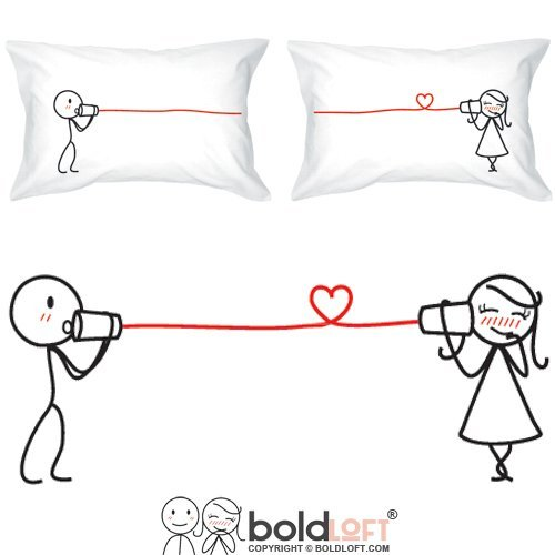BOLDLOFT-Say-I-Love-You-Couples-Pillowcases-Christmas-Gifts-for-Her-Gifts-for-Him-for-Boyfriend-for-Girlfriend-His-and-Hers-Gifts-Couples-Gifts-Valentines-Day-Anniversary-Relationship