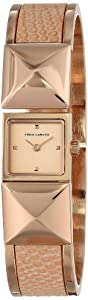 Vince Camuto Women's VC/5060LPRG Rose Gold-Tone Pyramid Covered Dial Light Pink Leather Insert Bangle Watch at Sears.com