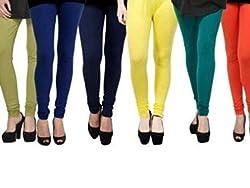 BULLY Women's Cotton Lycra Leggings combo of 6 (MPJLEG-83)