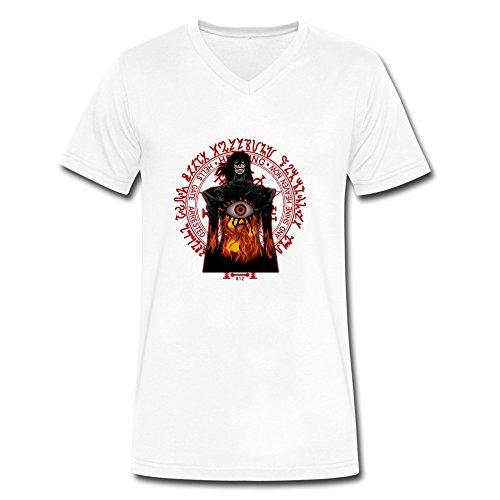 DeMai Men V-Neck 100% Cotton Hellsing Tee Shirts XXL (Hellsing Gun compare prices)