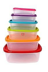 DUCATI Elegant, Beautiful & High Quality Material Multipurpose Plastic Storage Box (Pack of 6)