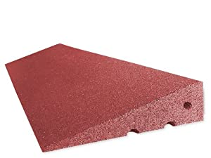 RO-FLEX Bordsteinkanten-Rampe 100 mm aus Gummifasern (rot)