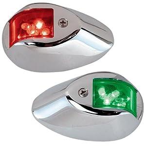 Perko 0602DP1CHR 12V LED Side Lights, Chrome