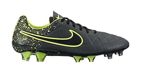 Nike Tiempo Legend V FG Soccer Cleat (Black, Volt)