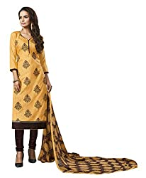 Women Icon Presents Yellow Embroidered Un-Stitched Dress Material WICKFVSIDC781006