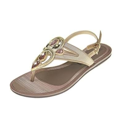 GRENDHA - Chaussures Femmes - IS MAGIA SANDAL FEM - 81275 - beige bronze, Taille:41/42