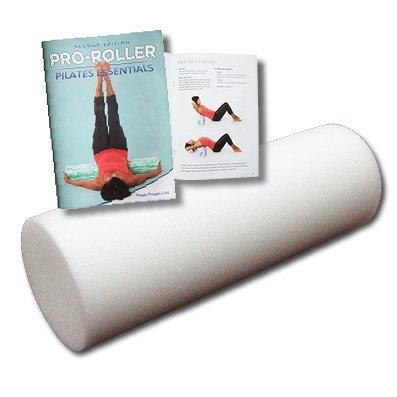 45cm Foam Roller and Pilates Essentials Exercise Book