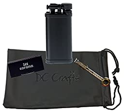 IM Corona Old Boy Pipe Lighter - Includes DC Crafts Pipe Bag, Czech Pipe Tool, & 5 Pack of Flints - (Black Matte)