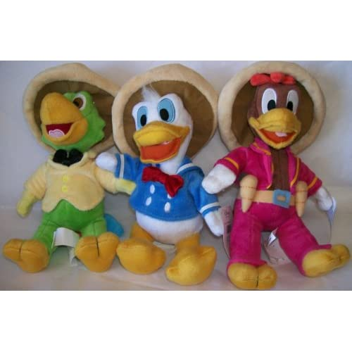 Jose Carioca , Panchito , & Donald Duck (Each 10 Inches Tall