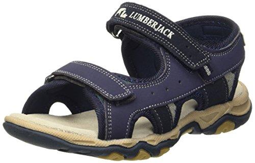 Lumberjack Levi Sandali a punta aperta, Bambini e ragazzi, Blu (Cc001 Navy Blue), 34