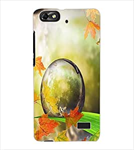 ColourCraft Droplet on Leaf Design Back Case Cover for HUAWEI HONOR 4C
