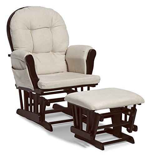 Stork Craft Hoop Glider and Ottoman Set, Espresso/Beige (Baby Furniture Expresso compare prices)
