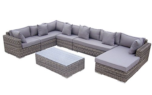 Baidani Rattan Lounge-Garnitur Perfection aus der Collection Ronde