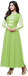 Ecoco Fashion Women's Unstitched Salwar Suit (Green)