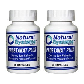 Natural Systems 2 Pack Prostanat Plus Saw Palmetto 540 Mg 2X60 Capsules Prostate Treatment