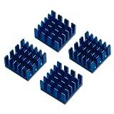 パソコン 熱対策 チップ用ヒートシンク 小型 W15xD15xH8mm アルミ製 4個入り 【高品質】