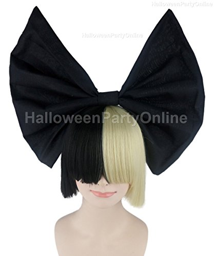 Halloween Party SIA Black Blonde Wig Bow Costume Cosplay Online HW 205 Amazon Price 3499 Buy Now As Of Sep 30 2016