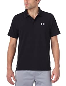 Under Armour Herren T-Shirt Polo EU Performance, Schwarz/Schwarz (1), M (MD), 1201519