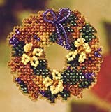 Fall Wreath Pin Kit Cross Stitch Kit