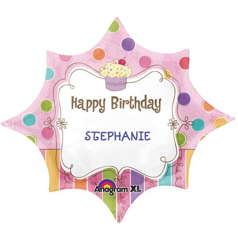 18 Inch Birthday Burst Personalized Foil Balloon