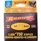 Arrow T50 Staples 6mm (1/4in) Box 5000