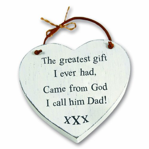 Heartwarmers Greatest Gift Dad Wooden Heart Keepsake Gift Hanger