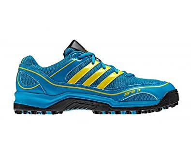 ADIDAS SRS 3 Unisex Hockey Shoes, Blue/Yellow, UK8
