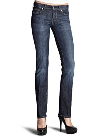 7 For All Mankind Women's Straight Leg Jean in New York Dark, New York Dark, 24