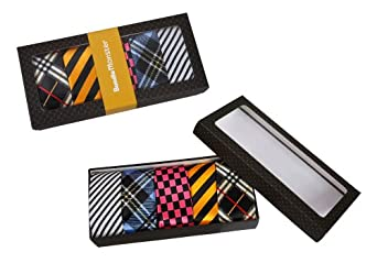 """Bundle Monster 5pc Mens Trendy Fashion Business Solid, Woven, Stripes Necktie Mixed Set 1 - Skinny Tie 2"""" Wide"""