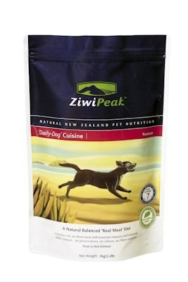 ZiwiPeak Real Meat Grain Free Air Dried Raw Dog Food, Venison, 2.2lb