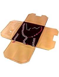 Atorakushon Jewellery Tops Studs Half Set Bag Necklace,Earring Organizer Storage Vanity Pouches Earrings Set Bag...