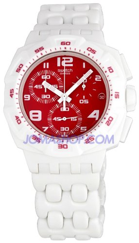 Swatch Originals Chrono Plastic Red Purity Watch SUIW406