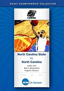 1992 ACC Men's Basketball Regular Season - North Carolina State vs. North Carolina