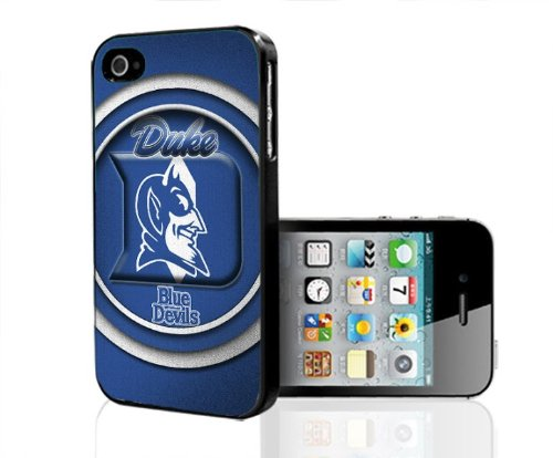 Duke Blue Devils Blue Background Football Sports Hard Snap on Cell Phone Case Cover iPhone (4 4s) at Amazon.com