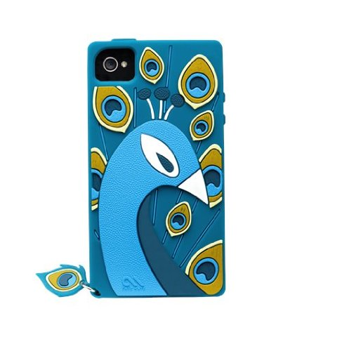 Case-Mate iPhone 4S / 4 CREATURES: Peacock Case, Teal クリーチャーズ ピーコック シリコン ケース CM017851
