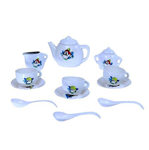 Dazzling Toys Mini Tea Set for Girls & Boys, 12 Piece Pretend Play Tea Set. Best Gift! - 1