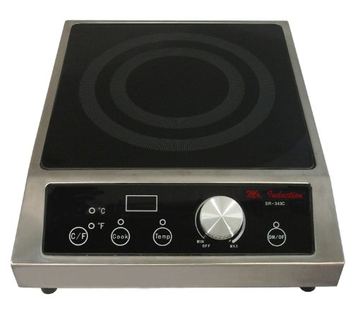Mr. Induction SR-343C 3400-Watt Countertop Commercial Range, 208-240-Volt