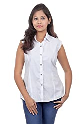 Juee Women's Printed Casual Top (JU105SY7SLWHT) (Small)