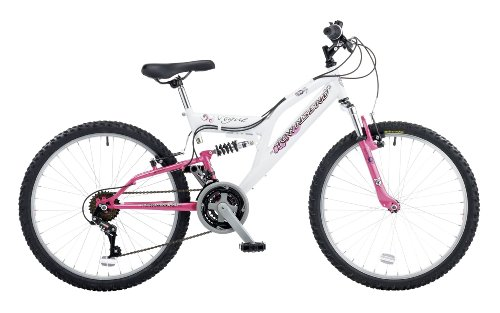 Townsend Vogue 24 Girls Front Suspension Mountain Bike - 15 Inch, White/Pink