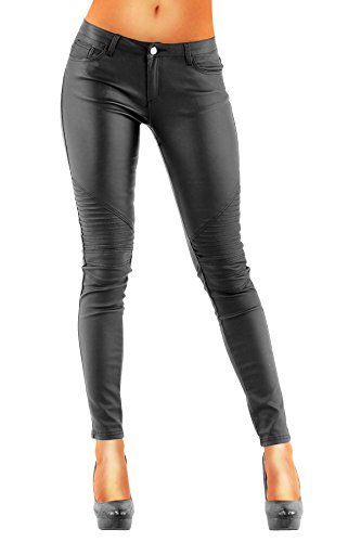 Da yoga da donna DANAEST letec lederpflege Skinny Style (212) pantaloni nero W36