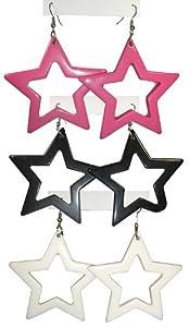 80's Star Earrings
