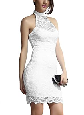 Womens Ladies Sexy Lace Backless Prom Wedding Formal Evening Cocktail Party Dress