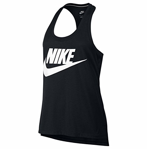 Nike Women's Signal Graphic Tank Top(Black/White,XS)