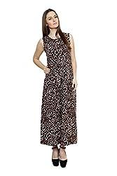 Lebe Women's Viscose Maxi Dress (FMLD037_L_Brown_Large)