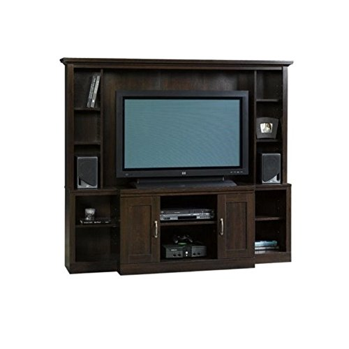 Sauder Large Entertainment Center, Cinnamon Cherry (Tv Wall Entertainment Center compare prices)