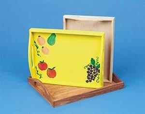 Amazon.com: Unfinished Wooden Trays (set of 3): Health