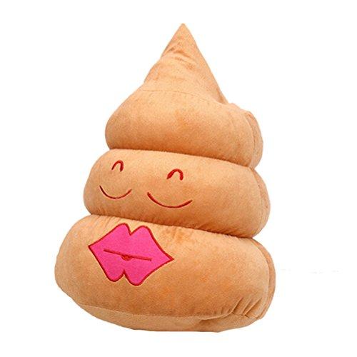 Amybria Home Decor Poop Geformte Puppe Kissen Amüsant Emoji Gefüllte Kissen Rot Lippen