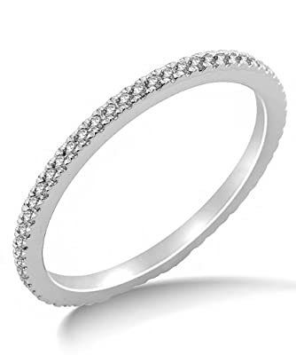 Miore 9ct White Gold 0.23ct Diamond Full Eternity Ring SA9035R