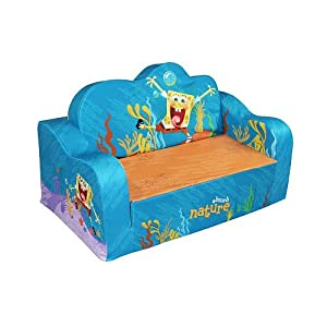 Pleasant Nickelodeon Flip Sofa Spongebob Squarepants Baby Living Short Links Chair Design For Home Short Linksinfo