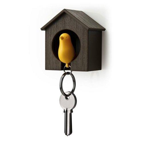 Qualy Sparrow Key Ring クオリー スパローキーリング [ キーリング 笛 ] ブラウン/イエロー《090004YE》